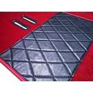 Carpet set interior velours dark red + semi-leather trimming Fiat 2300 S Coupe