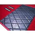 Jeu de moquette interieur velours rouge foncé + contours en similicuir Fiat 2300 S Coupe