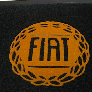 Fiat Classic Entry mat 60 x 90 cms black + gold