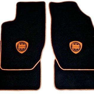 Lancia Thema + SW + 8.32 1984-1995 Floor mat set velours black-gold logo + trim