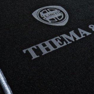 Lancia Thema 8.32 Floor mat set velours black-grey