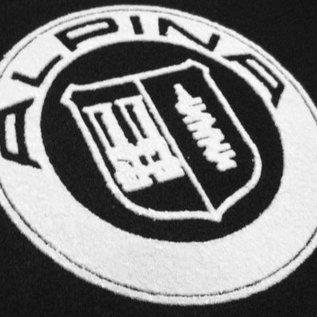 BMW Z3 Floor mat set velours black-silver Alpina logo + trim