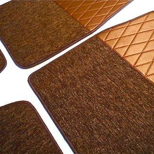 Autobianchi A112 Floor mat set premium loop dark brown