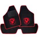 Floor mat set black-red Abarth logo + trim Autobianchi A112