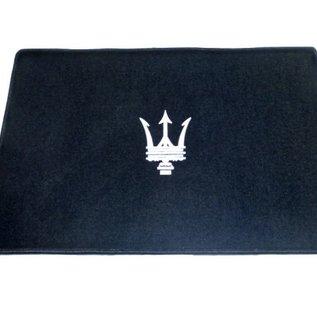 Entry mat 60 x 90 cms black + silver logo