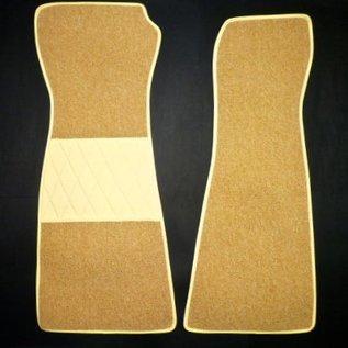 Opel GT Jeu de moquette interieur boucle cream/beige + contours en similicuir