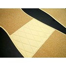 Carpet set interior loop cream/tan + semi-leather trimming Opel GT