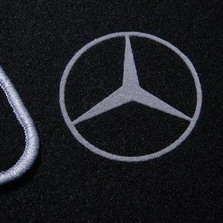 Mercedes-Benz R107 SL 1971-1989 Floor mat set black - grey logo + trim