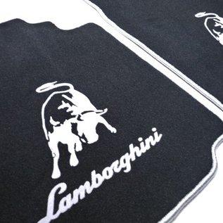 Lamborghini Murcielago Floor mat set velours black - silver