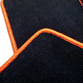 Lamborghini Murcielago Floor mat set velours black - orange