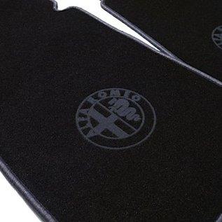 Alfa Romeo Alfetta + GT + GTV + GTV6 1972-1987 Floor mat set velours black - dark grey logo + trim