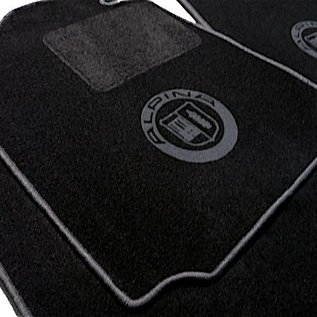 BMW E3 2500 2800 3.0S Si  Floor mat set black-dark grey Alpina logo + trim