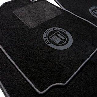 BMW E3 3.0Li + 3.3L + 3.3Li Floor mat set black-dark grey Alpina logo + trim