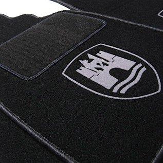 VW Beetle 1200 1300 1500 Floor mat set black-grey Wolfsburg logo