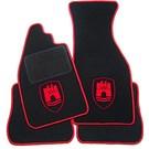 Tapis de sol noir-logo Wolfsburg + contours rouge VW Coccinelle 1200 1300 1500