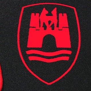 VW Coccinelle 1200 1300 1500 Tapis de sol noir-logo Wolfsburg + contours rouge