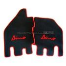 Floor mat setveloursblack - red script + trim Dino 206 + 246 GT GTS