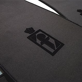 Fiat 130 Coupe Floor mat setveloursdark grey - black Pininfarina logo + trim