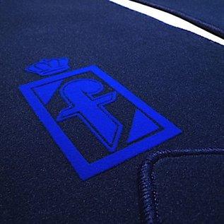 Fiat 130 Coupe Floor mat setveloursdark blue - blue Pininfarina logo
