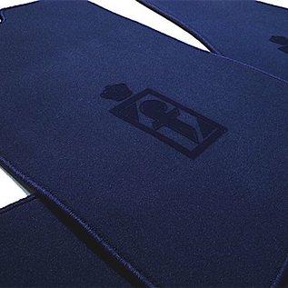 Fiat 130 Coupe Floor mat setveloursdark blue - dark blue Pininfarina logo
