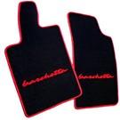 Floor mat setveloursblack - red script + trim Fiat Barchetta 2004-2005
