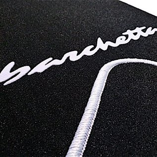 Fiat Barchetta 2004-2005 Floor mat setveloursblack - silver script + trim