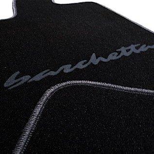 Fiat Barchetta 2004-2005 Floor mat setveloursblack - dark grey script + trim
