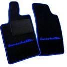 Tapis de sol noir - sigle + contours bleu Fiat Barchetta 2004-2005