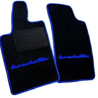 Fiat Barchetta 2004-2005 Floor mat setblack - blue script + trim