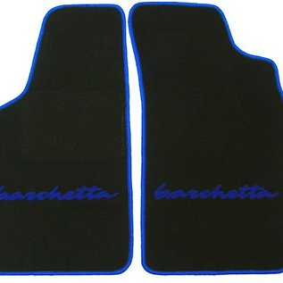 Fiat Barchetta 1995-2002 Floor mat set black - blue script + trim