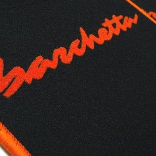 Fiat Barchetta 1995-2002 Floor mat setblack - orange script + trim