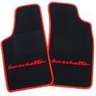 Tapis de sol noir - sigle + contours rouge Fiat Barchetta 1995-2002