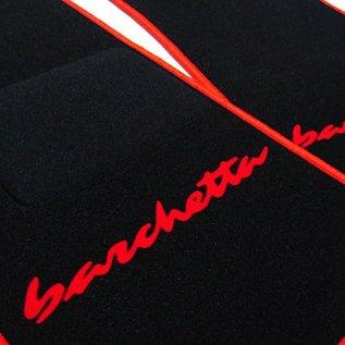Fiat Barchetta 1995-2002 Floor mat setblack - red script + trim