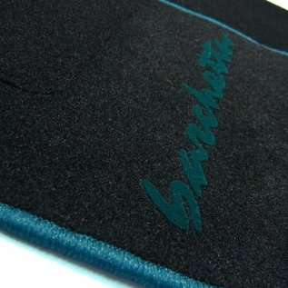 Fiat Barchetta 1995-2002 Floor mat set black - green script + trim