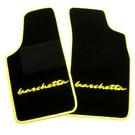 Tapis de sol noir - sigle + contours jaune Fiat Barchetta 1995-2002