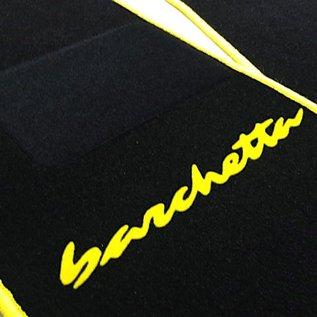 Fiat Barchetta 1995-2002 Floor mat setblack - yellow script + trim