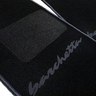 Fiat Barchetta 1995-2002 Floor mat setblack - dark grey script + trim
