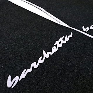 Fiat Barchetta 1995-2002 Floor mat set veloursblack - silver script + trim