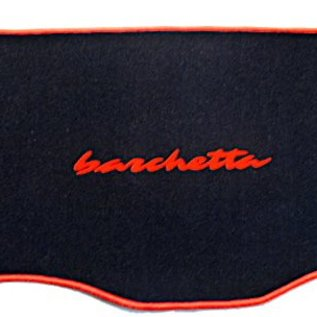 Fiat Barchetta 1995-2005 Trunk mat velours black - orange script + trim