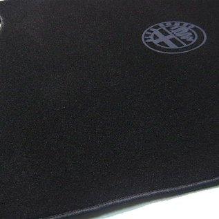 Alfa Romeo 156 SportWagon 2000-2005 Trunk mat velours black - dark grey logo + trim