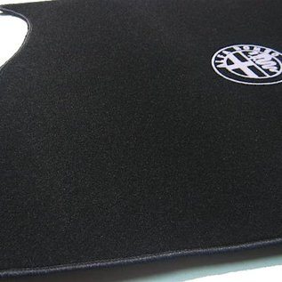Alfa Romeo 156 SportWagon 2000-2005 Trunk mat velours black - silver logo