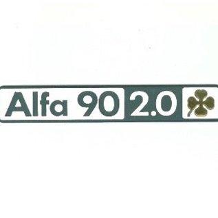 Alfa Romeo 90 2.0 Quadrifglio Oro Script rear