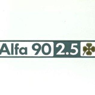 Alfa Romeo 90 2.5 Quadrifglio Oro Script rear