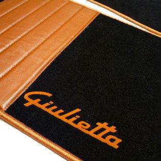 Alfa Romeo Giulietta 2010-2015 Floor mat set premium velours black - gold script + trim