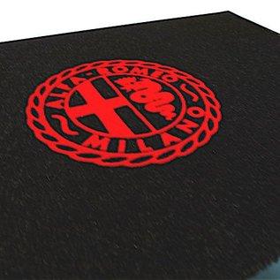 Alfa Romeo Milano Entry mat 60 x 90 cms black + red