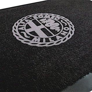 Alfa Romeo Milano Entry mat 60 x 90 cms black + grey
