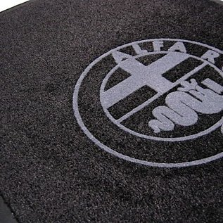 Alfa Romeo Entry mat 60 x 90 cms black + grey