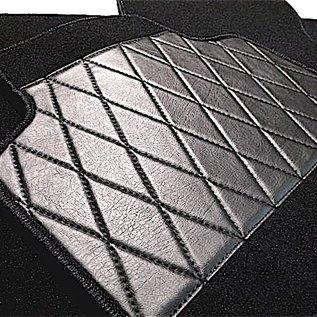 Fiat X 1/9 1300 + 1500 Jeu de moquette interieur velours noir