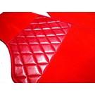 Carpet set interior velours red Fiat X 1/9 1300 + 1500
