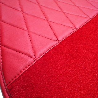 Mercedes-Benz W186 300 b c 1951-1957 Carpet set interior velours red + semi-leather trimming